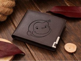 Jennifer request Curious George Leather Wallet with engrave inside