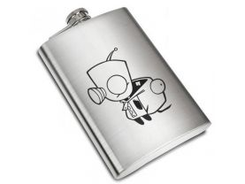 Invader Zim Liquor Stainless Steel Flask - 8 oz