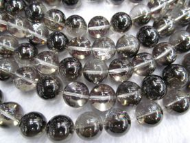 AA+ 2strands 4-14mm  Black Crystal Quqartz Beads Rock Crystal  Royla Blue Quartz  Round Ball Crystal Jewelry
