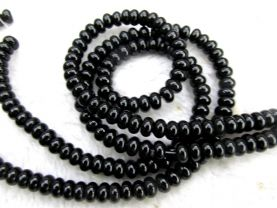 "2strands 4x6mm Genuine black agate  onyx round rondelle abacus  Loose beads 16"" strand 8-16mm"