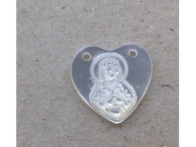 wholesale 100pcs 11mm Handmade White Mother of Pearl Shell Jewelry  Virgin Mary Oval Heart Rectangle Cameo Cabochon Shell Beads