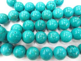 2strands 2-20mm Stabilized  Turquoise Gemstone  Round  Ball  green blue  Loose Beads turquoise necklace