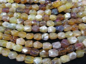 Nautral Yellow Opal Gems Gemstone Gradutated nugget Freeform Barrel faceted Loose  beads 13-20mm Full strand 16inch