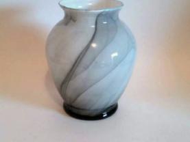 Black Marbleized Glass Vase