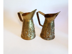 Pressed Brass Ale Pitchers  Made in England