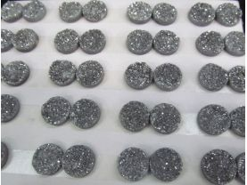 8-20mm 20pcs  Geuniune Druzy Drusy Crystal Quartz  Beads Round Disc Cabochon Assorted Jewelry Beads silver gold rainbow beads