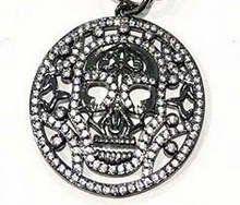 30pcs 30-40mm  Micro Crystal Pave Diamond Pendant Flower Fluorial skull Jewelry Focal   gunmetal beads
