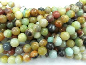 Wholesale 2strands 3-16mm Natural Amazonite Beads Wholesale Gemstones Round Ball Blue Yellow Rainbow Amazonite stone