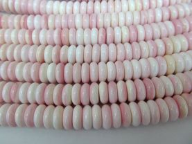 Brown Conch Shell jewelry  Heishi  Rondelle  Beads baby pink red  conch necklace conch  beads 8-14mm full strand