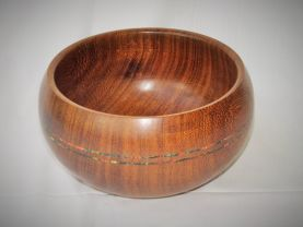 Tiama Bowl with inlays