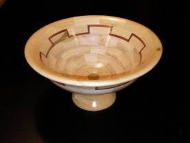 Segmented Bowl with base and featured ring