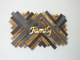 Wood Wall Art, Family wall art, reclaimed wood sign