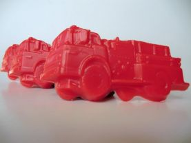 30 fire truck soap favors - fire fighter birthday favors - fire truck baby shower favors - fire engine kids party favors - fire truck favors