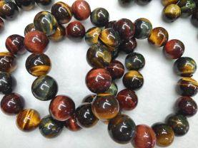 High quality 10\1214mm Blue Yellow Red Tiger Eye Gemstone  Hawk Eye Loose Beads  Blue  golden green Tiger eyes beaded Bracelet