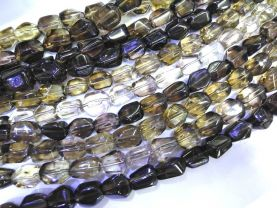 "AA+ Full strand 16"" SMOKE Smoky QUARTZ barrel drum Freeform nuggets egg Faceted Chocolate Brown Topaz Smoky beads 8-25mm"