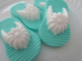 20 flip flop sandals soap favors - beach bridal shower favors - turquoise wedding favors - flip flop baby shower favors - flip flop favors