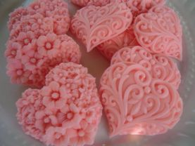 100 heart soap favors - birthday favors - pink heart favors - wedding favors - bridal shower favors - baby shower favors - quinceanera favor