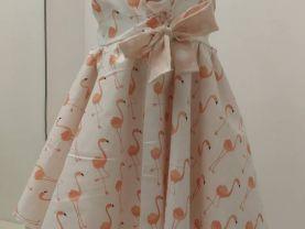 Flamingo Tie Front Dress