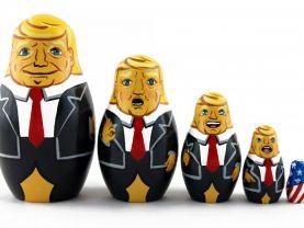 Matryoshka Donald Trump Souvenir Russian Nesting Wooden Doll Babushka Babouska Matrioska Stacking 5 Pcs
