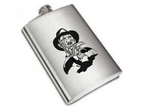 Freddy Krueger Liquor Stainless Steel Flask - 8 oz