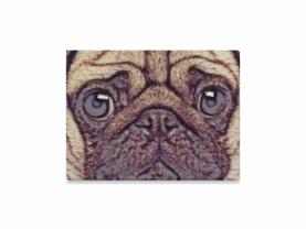 Pug face canvas print