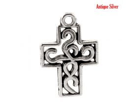 Antique Silver Filigree Cross