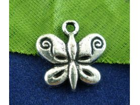 Antique Silver Butterfly Charms for Jewelry Making