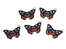 5 Charms Butterfly Charms for Jewelry Making