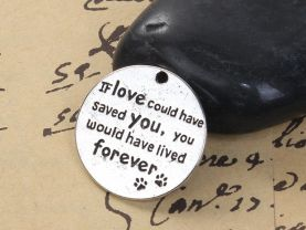 2 Pet Memorial Charms for Jewelry Making