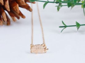 Gold Plated Hedgehog Necklace