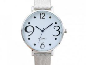 Digital Dial Leather Band Quartz Analog Wrist Watche 702