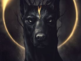 Dog the embodiment of protection and fear, Art