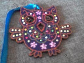 "Handmade wooden Christmas-tree decoration "" owl """