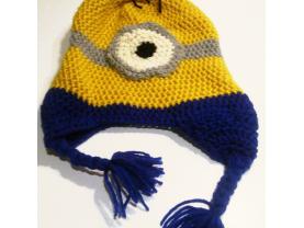 """Adult size Minion """"Despicable Me"""" Stuart Winter Beanie Hat"""