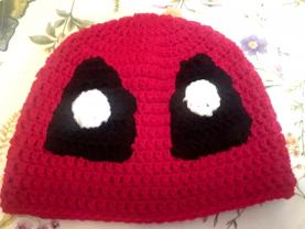Large Adult Size Deadpool Winter Crochet Beanie