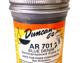 Duncan EZ Flow Ceramic Glaze        Blue Denim AR 701