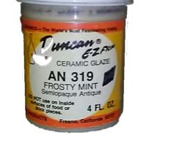 Duncan EZ Flow Ceramic Glaze Frosty Mint AN 319