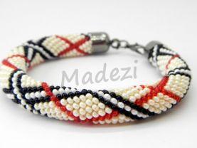 Burberry Bracelet, Seed bead bracelet, colored bracelet, crochet bracelet, handmade bracelet. Beaded gift for women