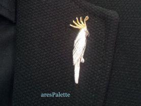 Parrot Pin-925 Silver-Handmade Parrot Pin
