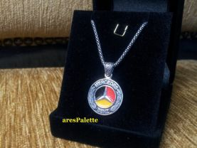 Mercedes-Benz Necklace-Sterling silver Mercedes necklace