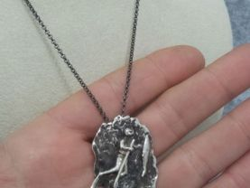 Spearfishing Necklace 925 Silver Handmade Special Design Underwater Hunting Necklace