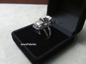 Cabriolet Car Ring  - Sterling silver cabriolet car ring