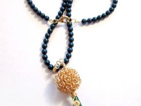 Jade Teardrop Necklace, Wire Wrapped Necklace, Swirl Design Pendant Necklace, Tahitian Pearl Necklace, Gold Ball Pendant Necklace, Gifts