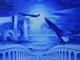 NIGHT SEA An original oil on canvas painting