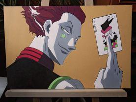 Hisoka acrylic on canvas painting (from Hunter x Hunter anime)