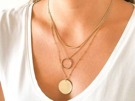 Stackable NECKLACES   SET   GOLD fill Necklaces   Handmade   Fine Jewellery   NEW
