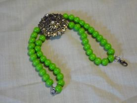 Bracelet Green Glass Beads Bracelet