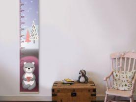 Growth chart, Growth ruler, bear nursery decor, nursery decor, wall decor, height chart