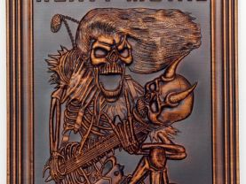 Heavy Metal Wall Decor Music Fan Wood Art Carved Picture Plaques Custom Craft Birthday Personalized Gift Housewarming
