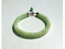 Beaded Crochet Bracelet green